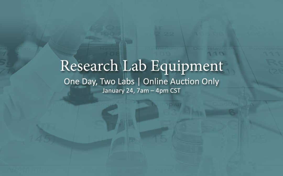 State of the Art Research & Genetic Lab Closing Auction Sale