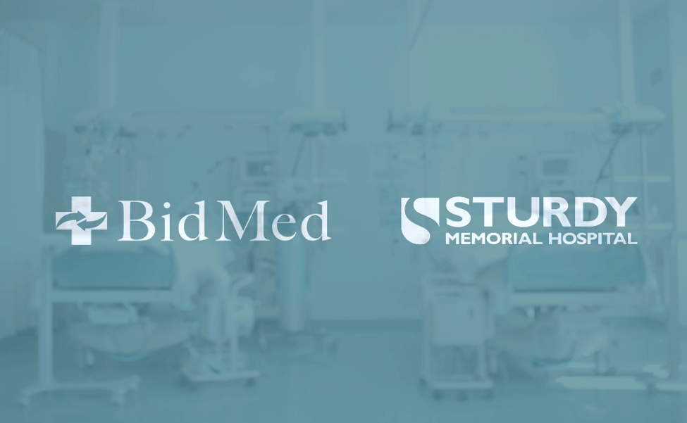 Sturdy Memorial Hospital and BidMed Contract Announcement