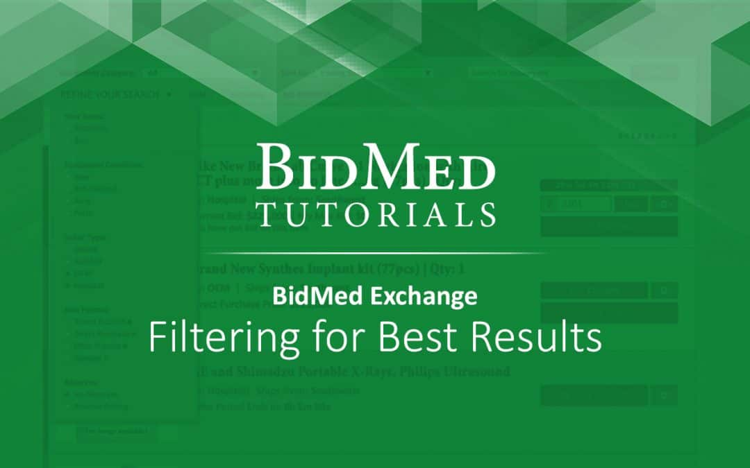 Filtering for Best Results