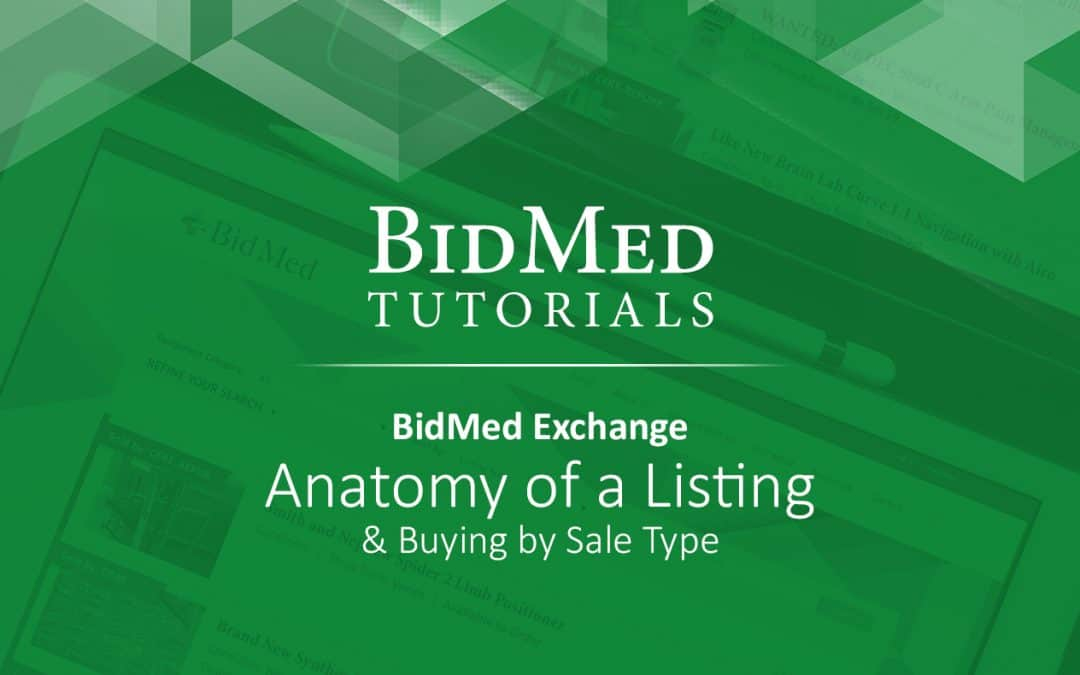 Anatomy of an Exchange Listing & Buying by Sale Type