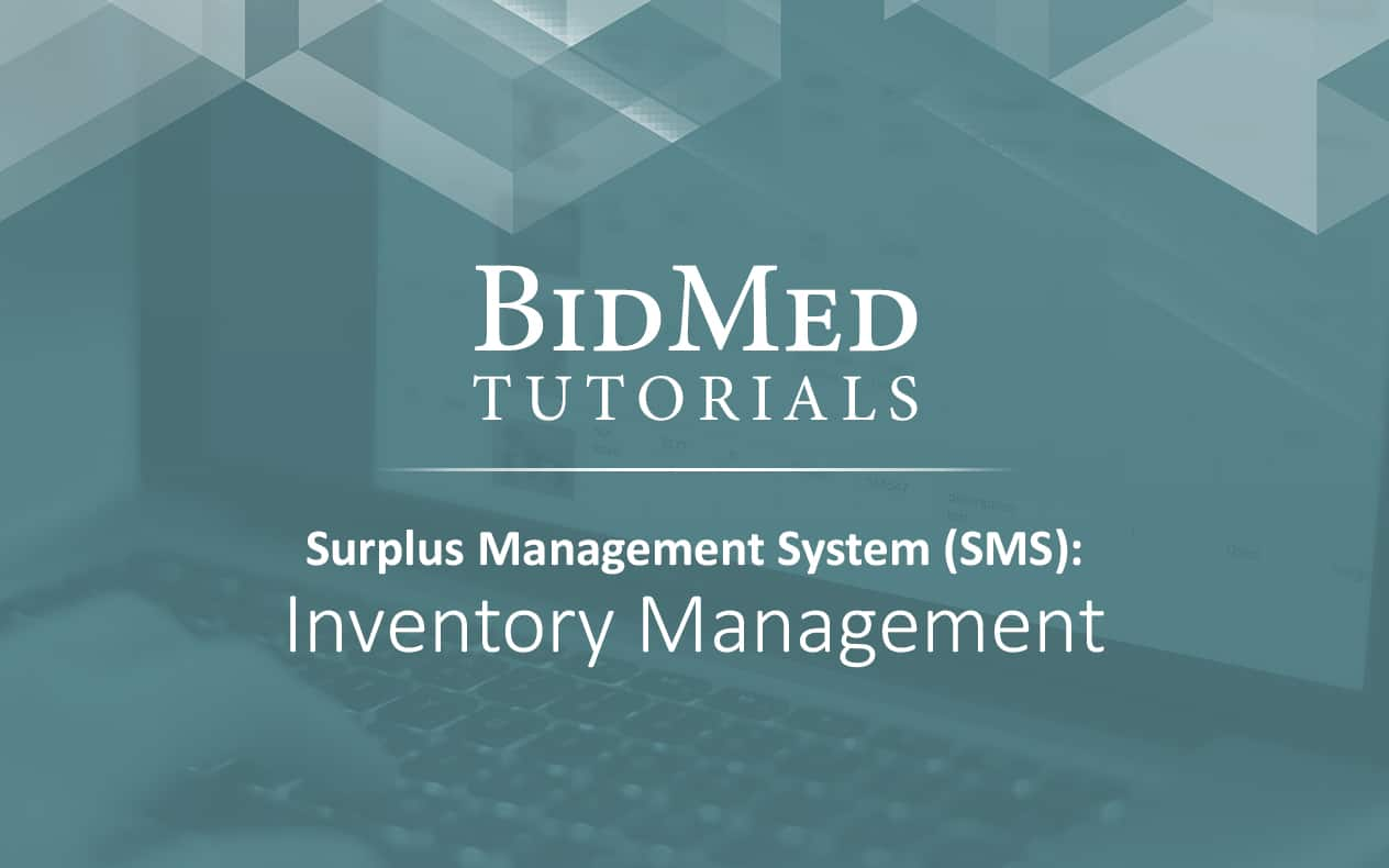 Inventory Management on the SMS