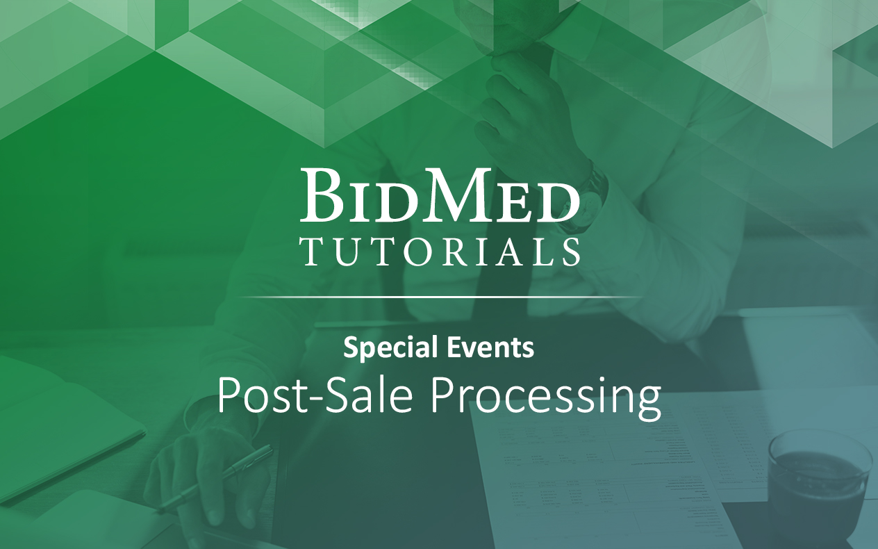 Post-Sale Processing for Events