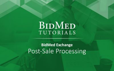 Post-Sale Processing for the BidMed Exchange