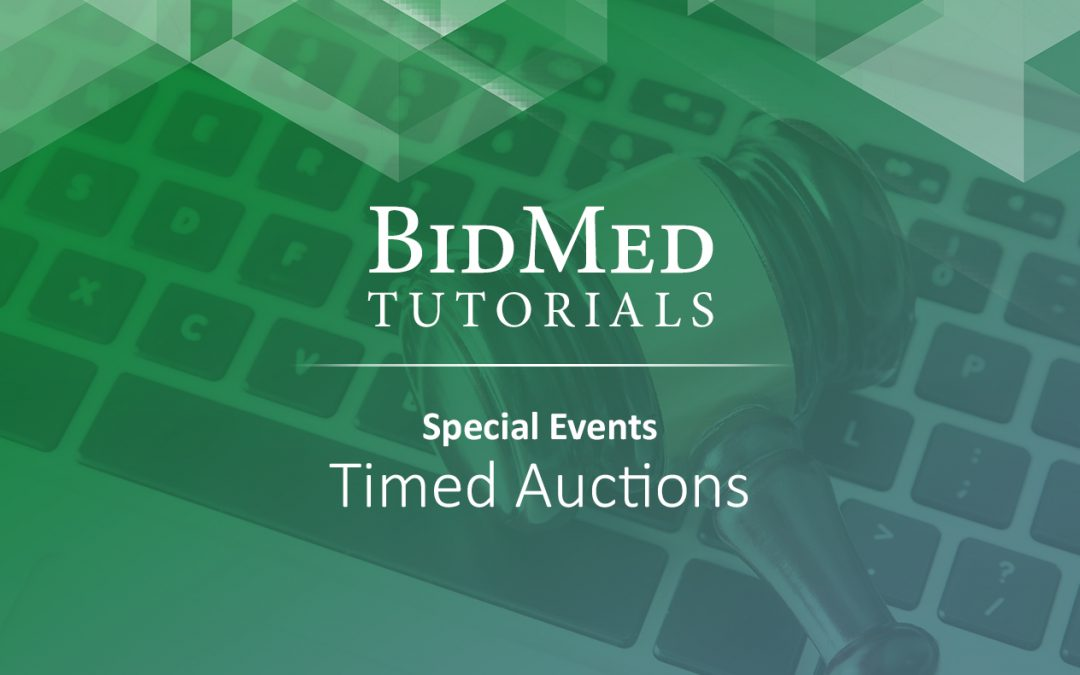 How to Bid in Timed Auction Events