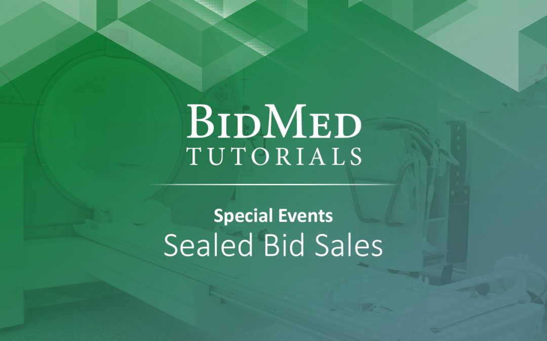 How to Participate in Sealed Bid Events