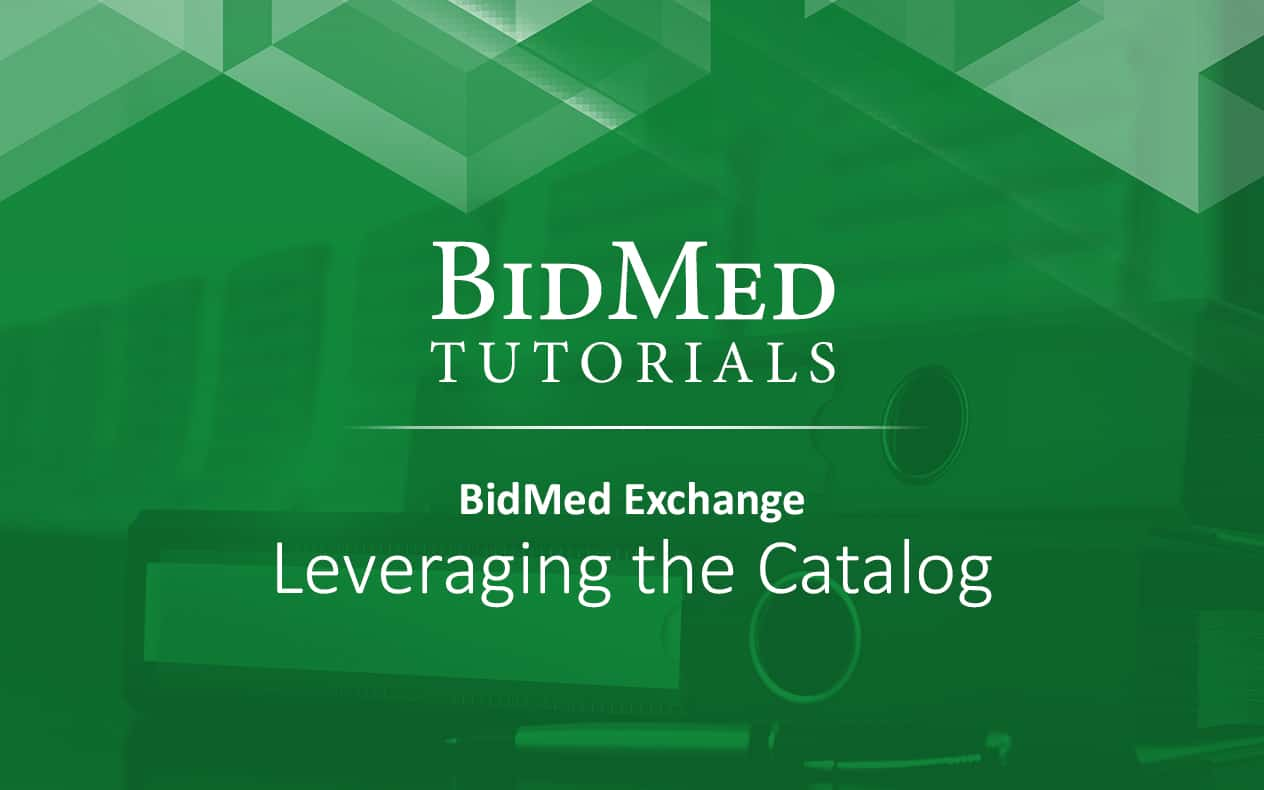 Leveraging the BidMed Catalog