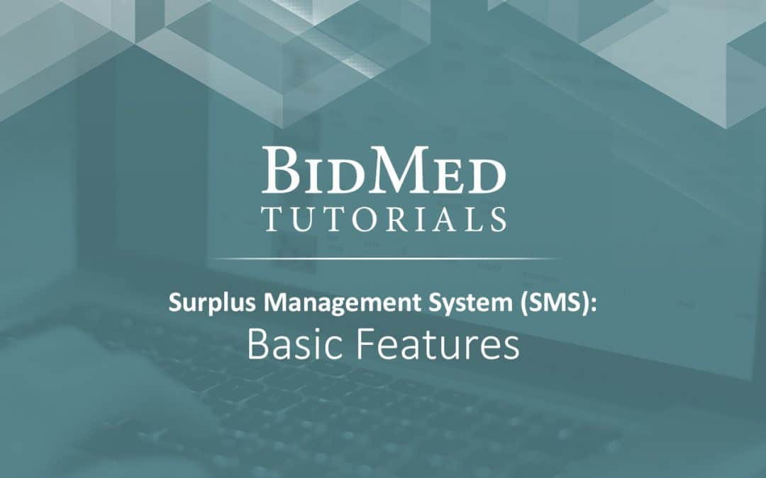 BidMed's Surplus Management System Simplifies Medical Inventory Management
