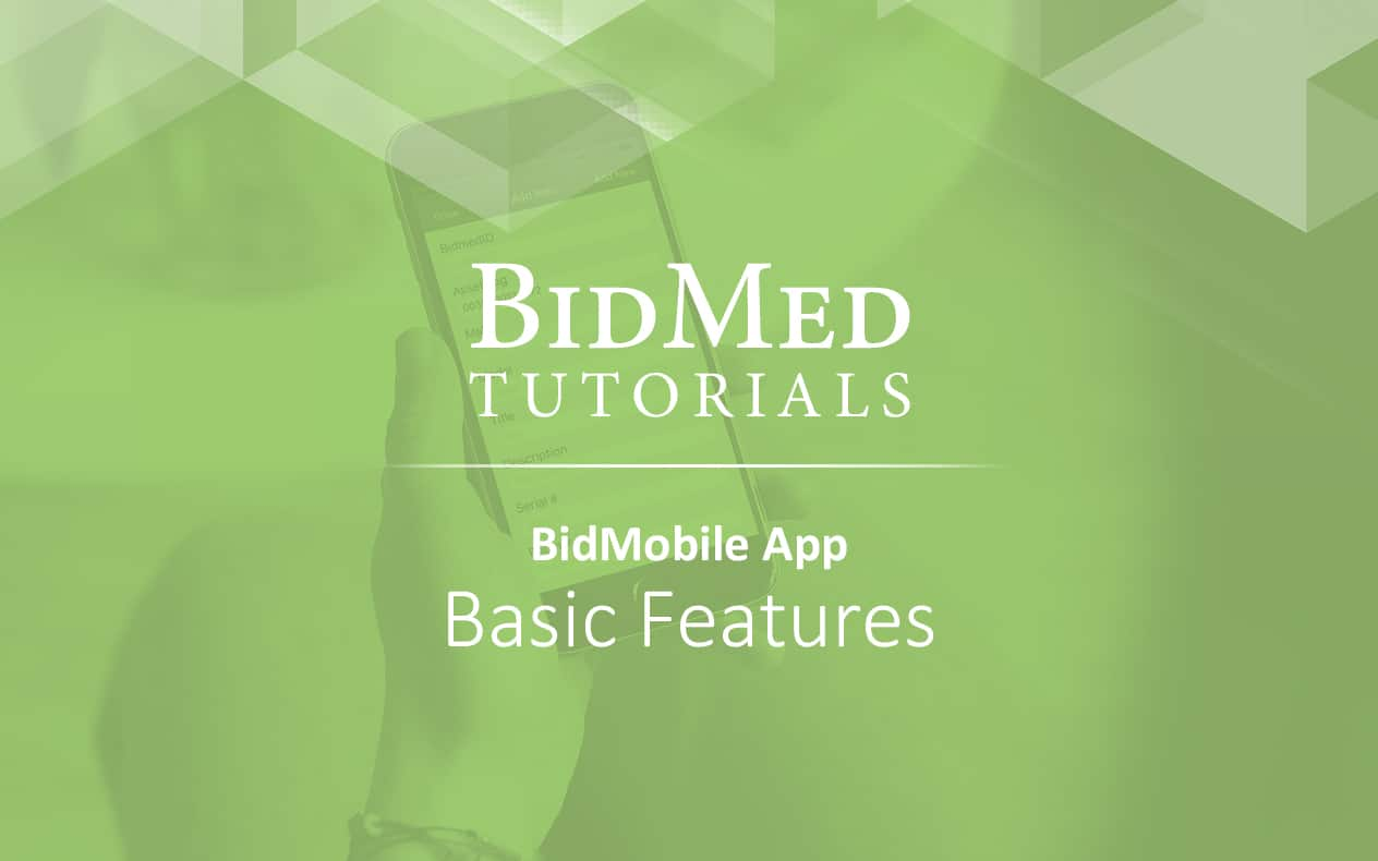 BidMobile for iOS - basic features
